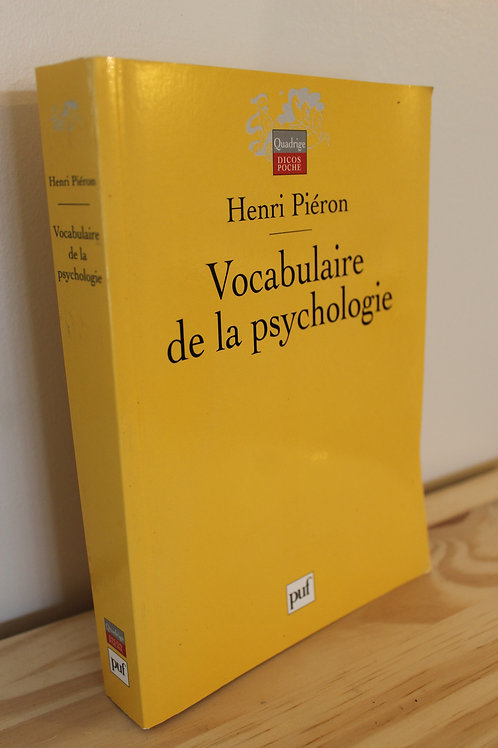 Vocabulaire de la psychologie