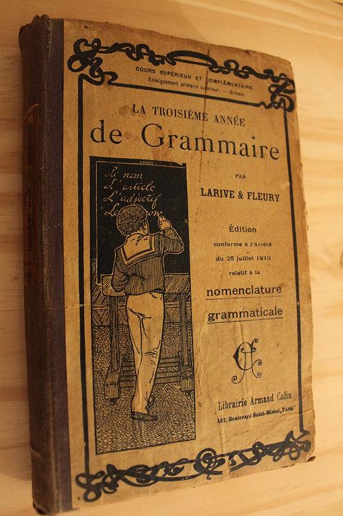 La troisième année de grammaire
