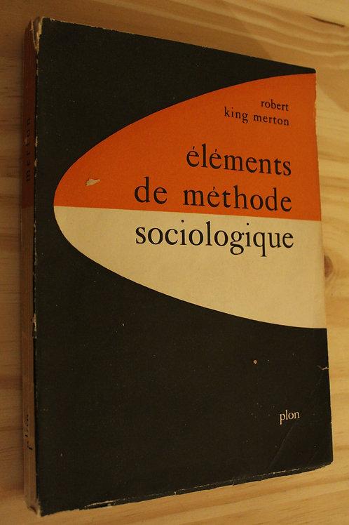 Eléments de méthode sociologique