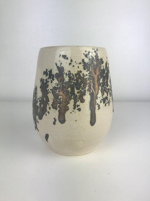 Bronze glazed vessel
