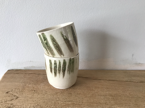 Celadon ash sake cups