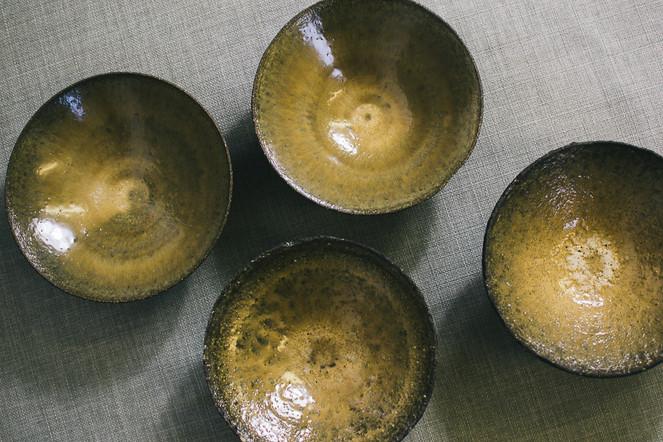 Black clay bowls