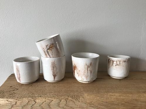 Ivory ash sake cups
