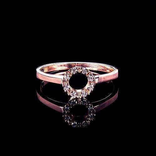 14k rose gold vintage diamond ring