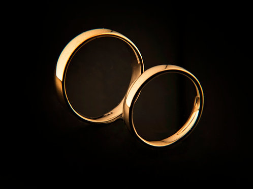 14k yellow gold wedding rings (set)