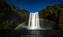 Moonbow at Skógarfoss