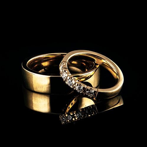 14k wedding rings with diamonds