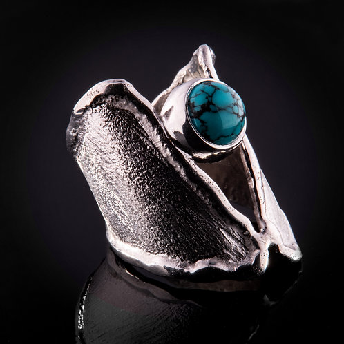 silver-turquoise ring
