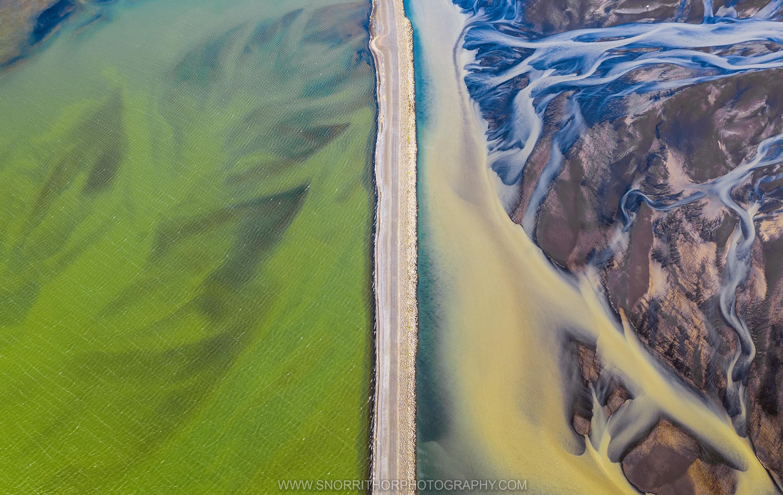 Glacier River Delta