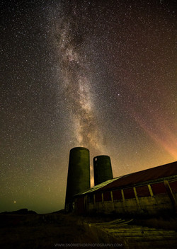 Milky Way at old farm
