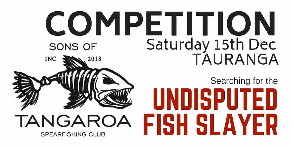 SOT Spearfishing Comp. Briefing 7pm Fri 14th. Comp from 5am Saturday 15th