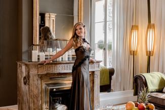 Robe de cocktail Cristal-Ambre