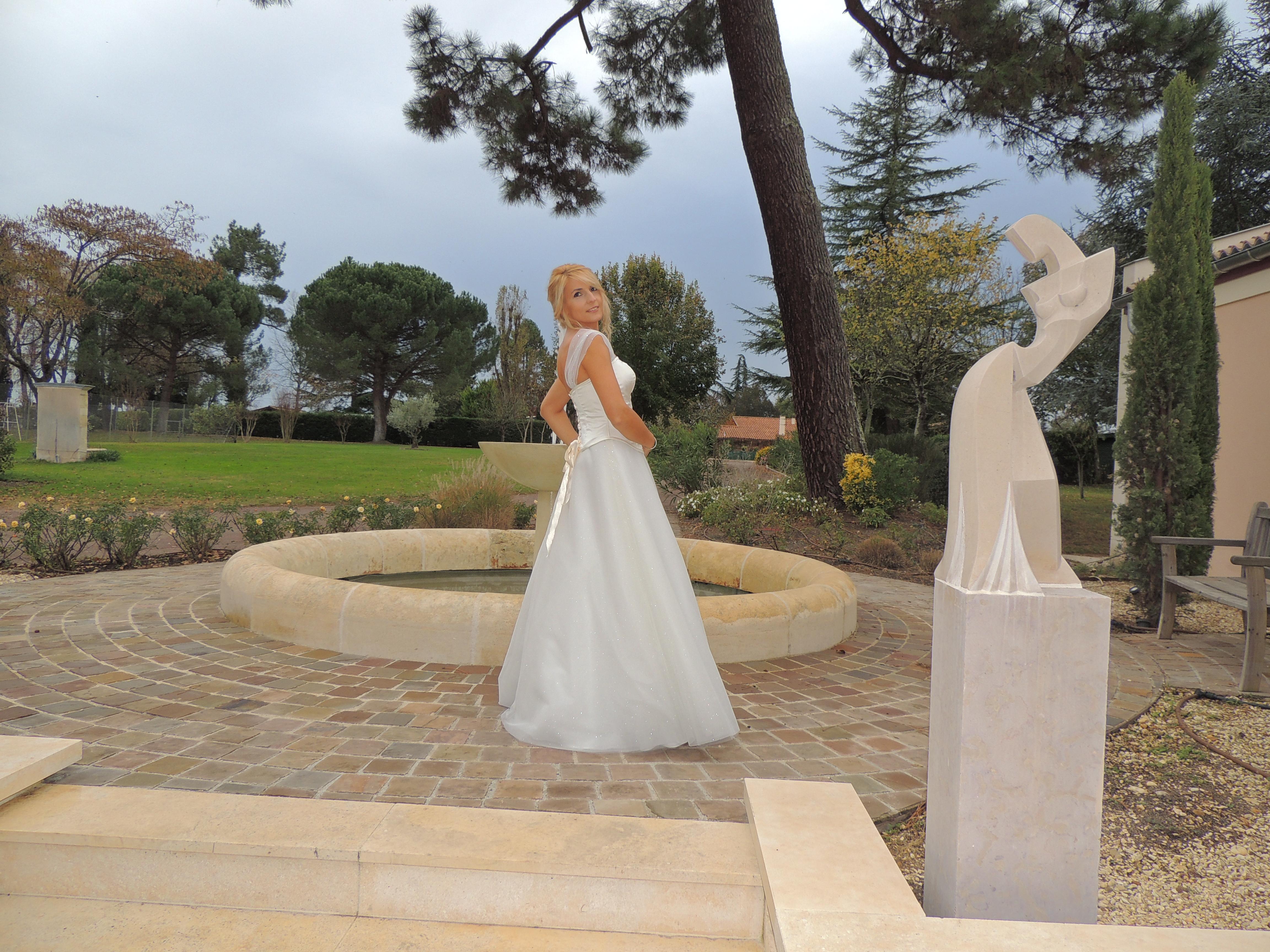 Création robe de mariée princesse