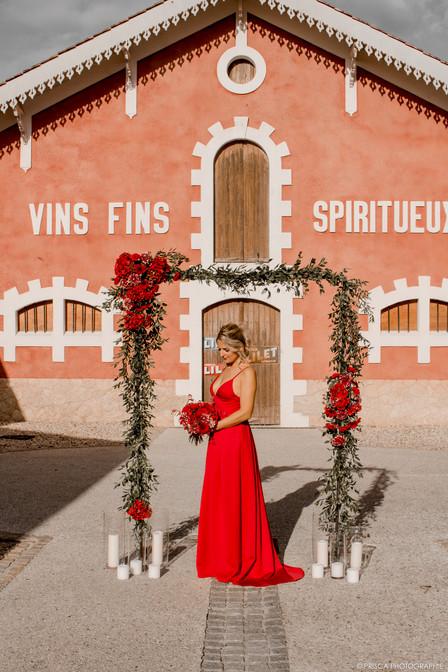 robe de cocktail sur mesure Christelle V
