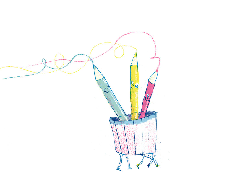Colour Pencils Illustrated by Joseph Namara Hollis