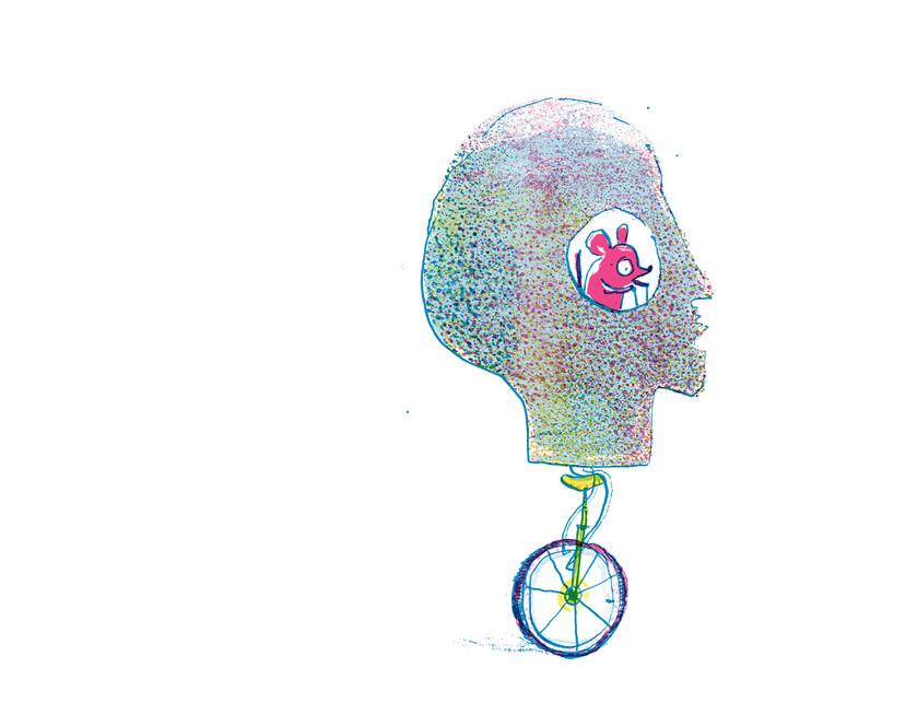 the head illustrated by Joseph Namara Hollis