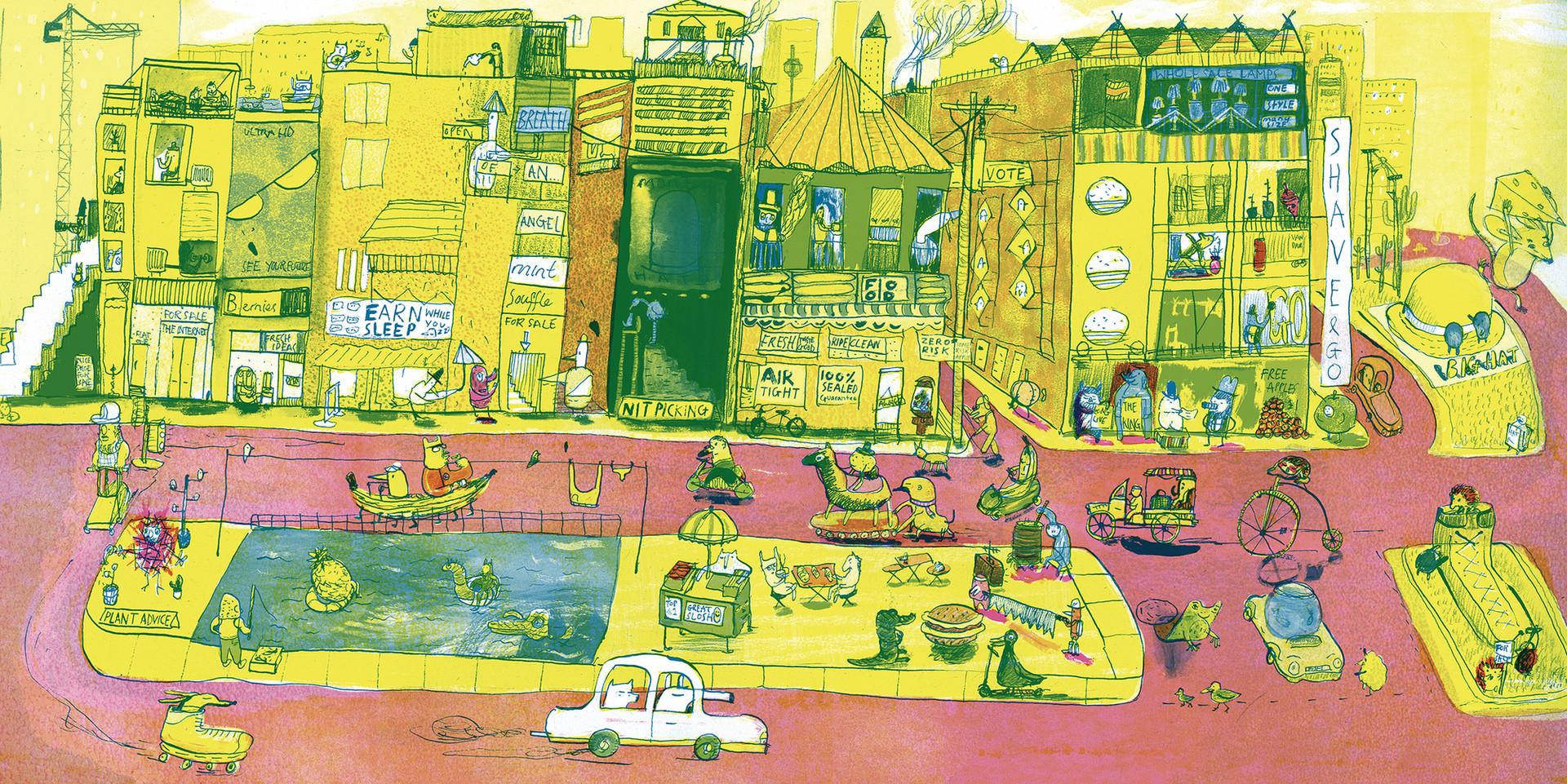 The Big City V&A Student Illustrator of the year 2018 Winner illustrated by Joseph Namara Hollis