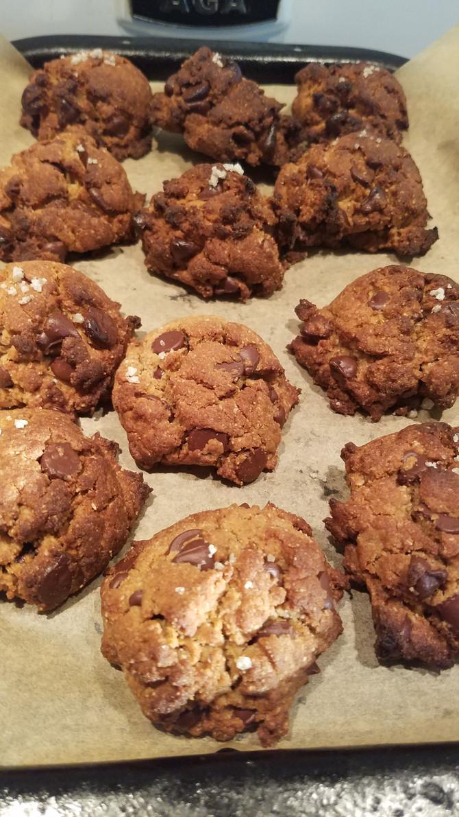 Olive Oil, Tahini Nourishing Chocolate Chip Cookies
