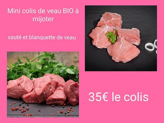 Mini colis de veau à MIJOTER  BIO ( +/- 2 KG)