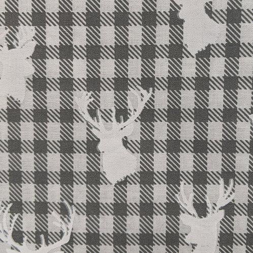#310- Plaid Deer Heads