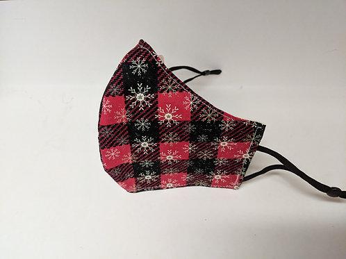 #212 - Red Plaid Snowflake