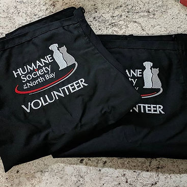 New aprons being made for our local Huma
