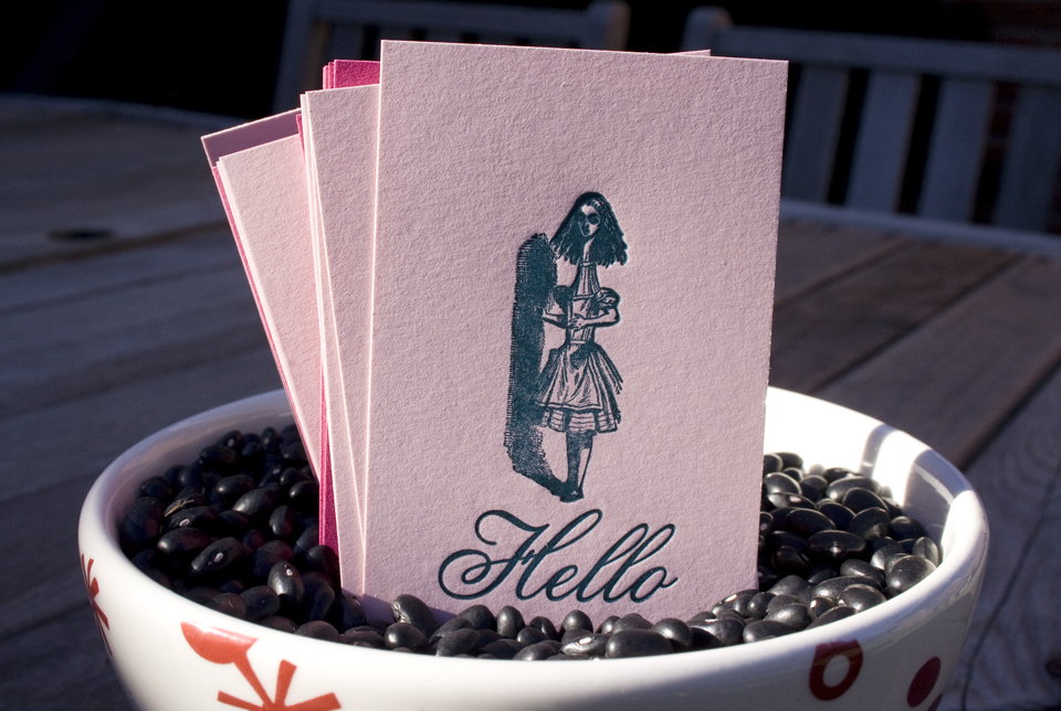 Letterpress Hello Alice Calling Card