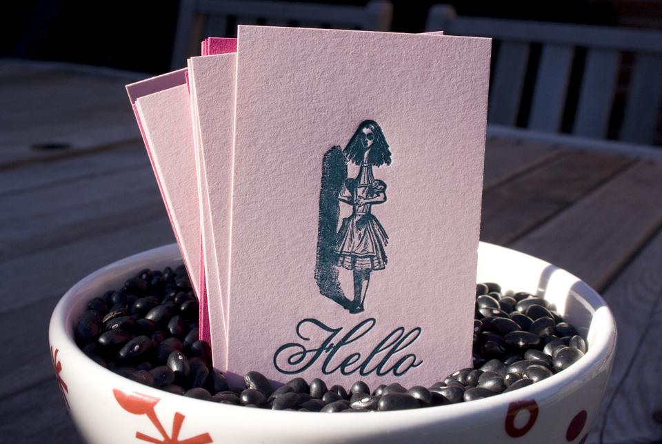 Letterpress Hello Alice Calling Card