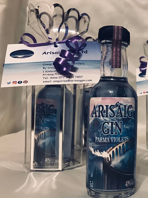 Arisaig Gin Parma Violets Miniture 5cl + Cage