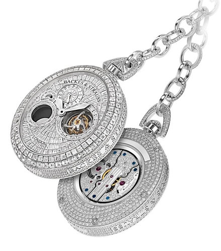 Pocket Watch BACKES & STRAUSS  5&5 in World With Full Set