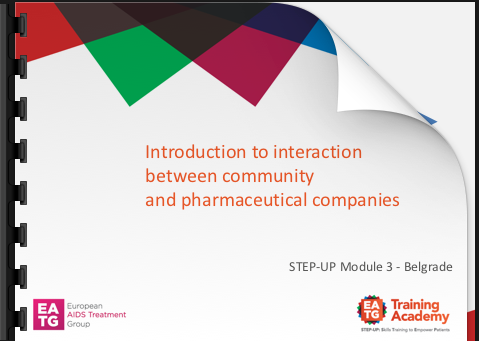 Introduction to relationship between community and pharmaceutical companies