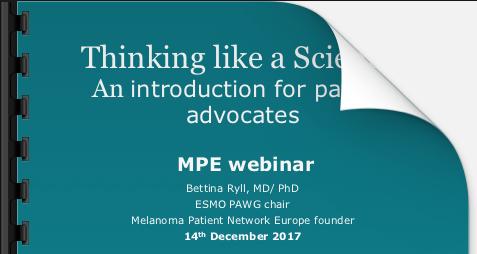 Science for patient advocates