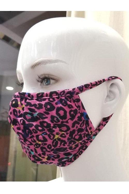 Pink Animal Print Mask