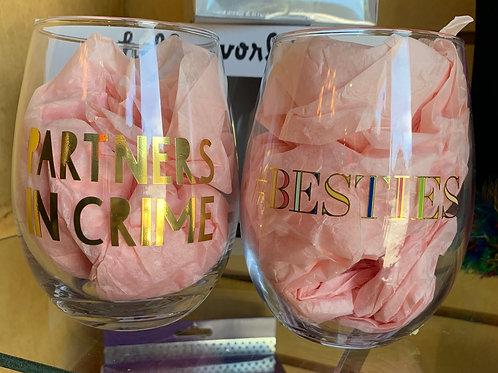 BFF Stemless Wine Glasses