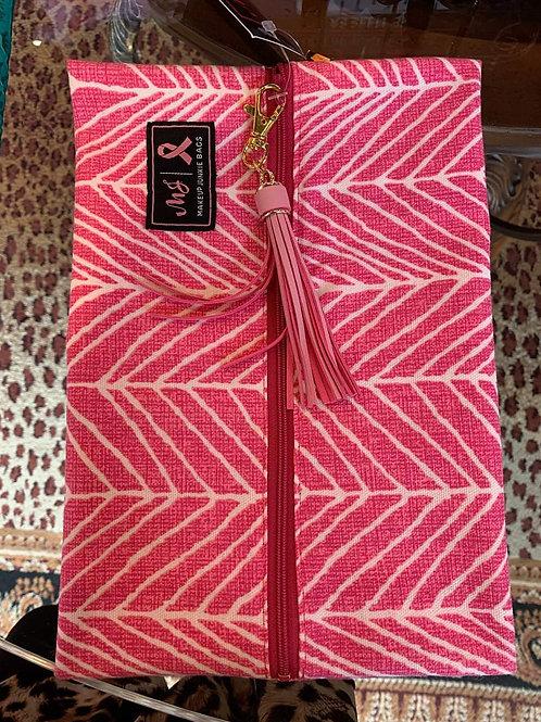 Makeup Junkie Bag Breast Cancer Bag