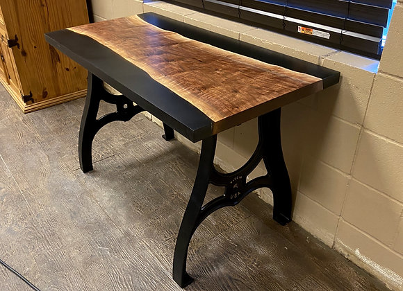 Walnut Black Cast Table