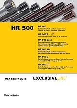 Catalogo de Escariadores HR500 de Guhring