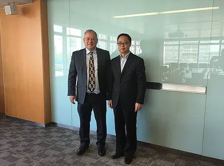 the Israeli embasador in China and GIV visit China Great Wall Technology Group