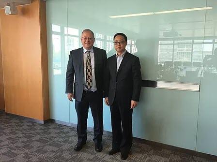 the Israeli embasador in China and GIV visit China Great Wall Technology Group