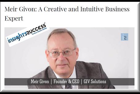"""Insights Success בחר במנכ""""ל החברה - מאיר גבעון, כאחד מ-10 המנכל""""ים המוערכים ביותר"""