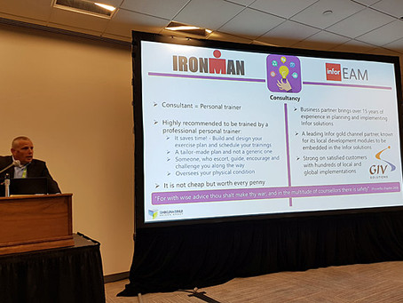 Iron Man with Infor EAM in the big city