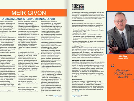 Meir Givon was chosen as one of the 10 most appreciated CEO in 2018