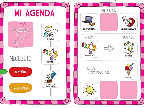 Agenda visual niña