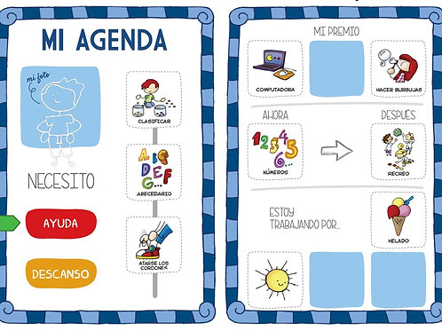 Agenda visual niño
