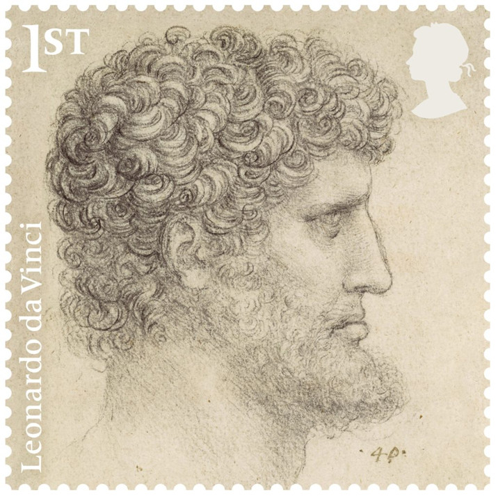 Appearance of the Most Famous Leonardo da Vinci's Works on UK Postage Stamps