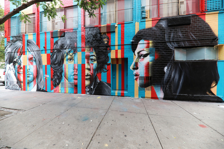 NEW LES MURAL OF ROCK LEGENDS BY KOBRA