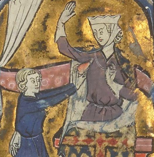 Photo Courtesy: Bibliothèque Nationale de France - Allegorical image from the Roman de la poire.