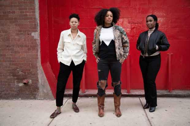 Sable Elyse Smith, Allison Janae Hamilton, and Tschabalala Self. Photo Source : Madeleine Hunt- Ehrlich.