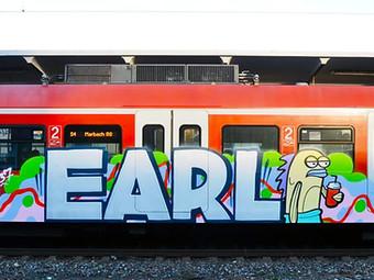 Q Train Bombed With Graffiti