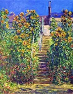 Claude Monet's L'Escalier à Vétheuil. Photo Source : Internet
